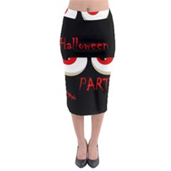 Halloween party - red eyes monster Midi Pencil Skirt