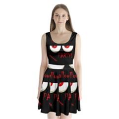 Halloween party - red eyes monster Split Back Mini Dress