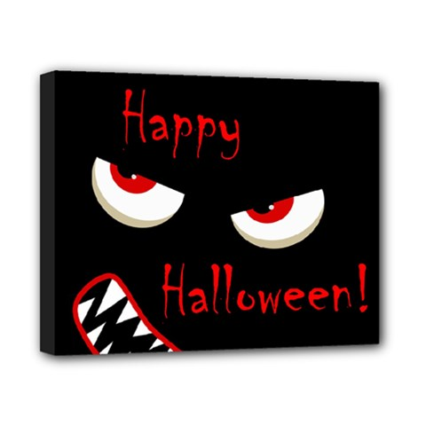 Happy Halloween - red eyes monster Canvas 10  x 8