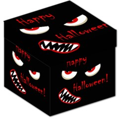 Happy Halloween - red eyes monster Storage Stool 12