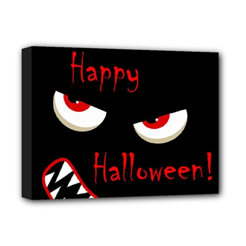 Happy Halloween - red eyes monster Deluxe Canvas 16  x 12