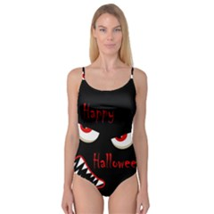 Happy Halloween - red eyes monster Camisole Leotard