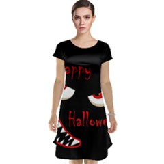Happy Halloween - red eyes monster Cap Sleeve Nightdress