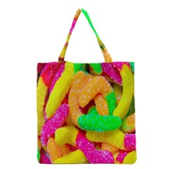 Neon Patterns Grocery Tote Bag