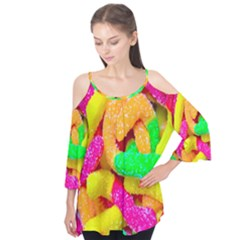 Neon Patterns Flutter Tees