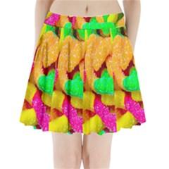 Neon Patterns Pleated Mini Skirt