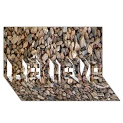 Nitter Stone Believe 3d Greeting Card (8x4)