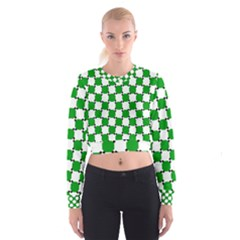 Optical Illusion Women s Cropped Sweatshirt