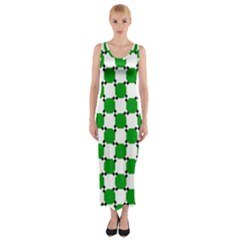 Optical Illusion Fitted Maxi Dress