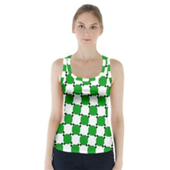 Optical Illusion Racer Back Sports Top