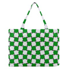 Optical Illusion Medium Zipper Tote Bag