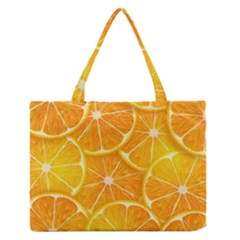 Orange Copy Medium Zipper Tote Bag