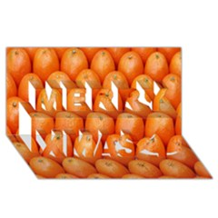 Orange Fruits Merry Xmas 3d Greeting Card (8x4)
