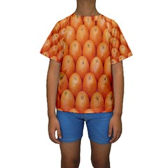Orange Fruits Kids  Short Sleeve Swimwear