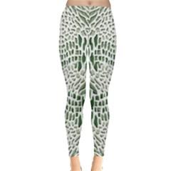 GREEN SNAKE TEXTURE Leggings
