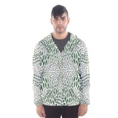 Green Snake Texture Hooded Wind Breaker (men)