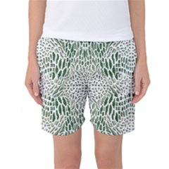 Green Snake Texture Women s Basketball Shorts