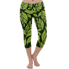 Palm Coconut Tree Capri Yoga Leggings