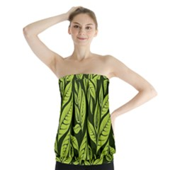 Palm Coconut Tree Strapless Top
