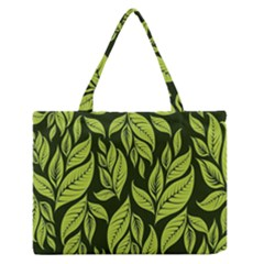 Palm Coconut Tree Medium Zipper Tote Bag