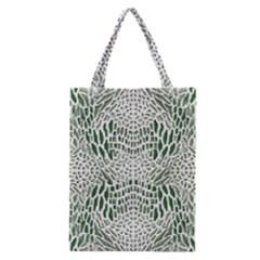 Green Reptile Scales Classic Tote Bag