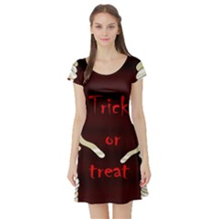 Halloween mummy Short Sleeve Skater Dress