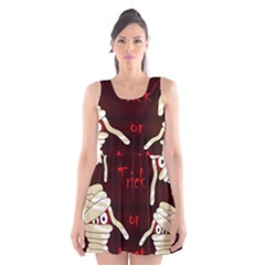 Halloween mummy Scoop Neck Skater Dress