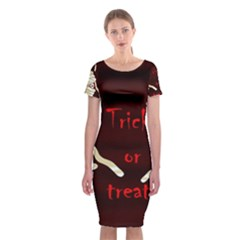 Halloween Mummy Classic Short Sleeve Midi Dress