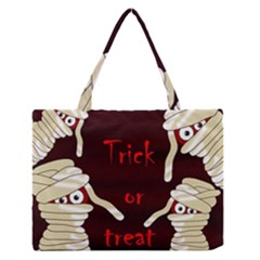 Halloween mummy Medium Zipper Tote Bag