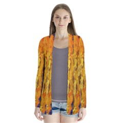 Abstract Drape Collar Cardigan