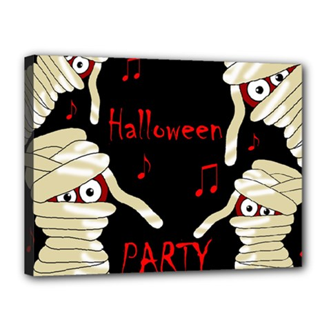 Halloween mummy party Canvas 16  x 12