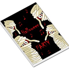 Halloween mummy party Large Memo Pads