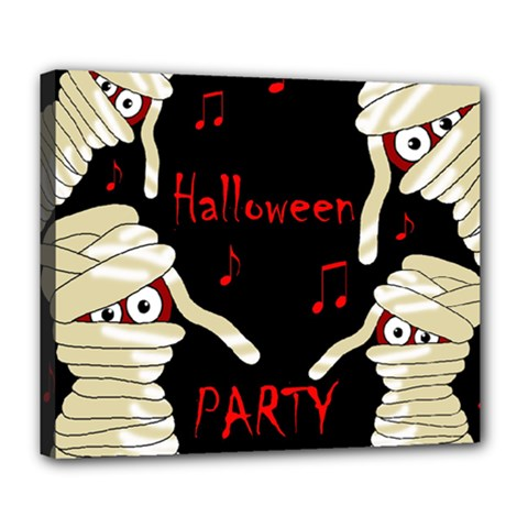 Halloween mummy party Deluxe Canvas 24  x 20