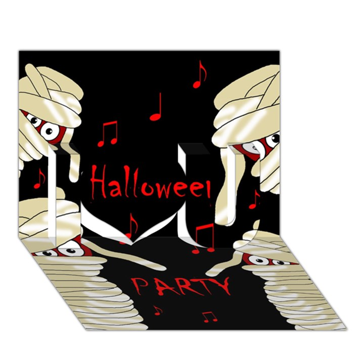 Halloween mummy party I Love You 3D Greeting Card (7x5)