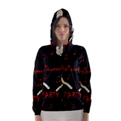 Halloween mummy party Hooded Wind Breaker (Women)