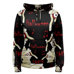 Halloween mummy party Women s Pullover Hoodie