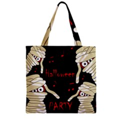 Halloween mummy party Zipper Grocery Tote Bag