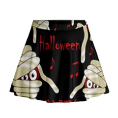 Halloween mummy party Mini Flare Skirt