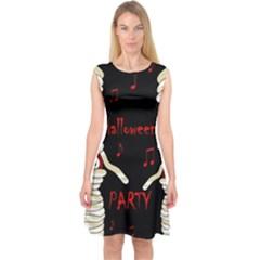 Halloween Mummy Party Capsleeve Midi Dress