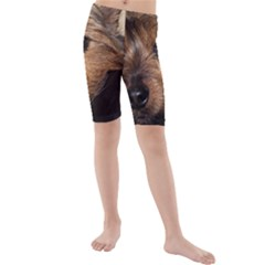 Norwich Terrier Chillin Kids  Mid Length Swim Shorts