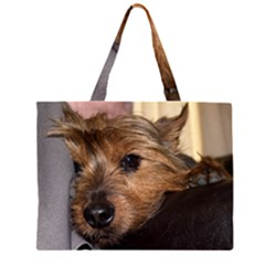Norwich Terrier Chillin Large Tote Bag