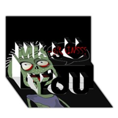 Halloween zombie Miss You 3D Greeting Card (7x5)