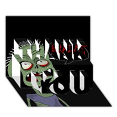 Halloween zombie THANK YOU 3D Greeting Card (7x5)