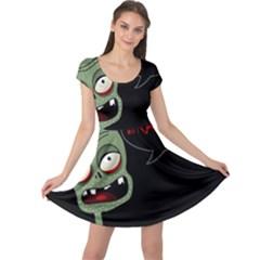 Halloween zombie Cap Sleeve Dresses
