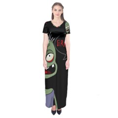 Halloween zombie Short Sleeve Maxi Dress
