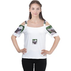 Chinese Crested Women s Cutout Shoulder Tee
