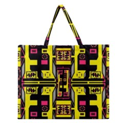 =p=p=yjyu Zipper Large Tote Bag