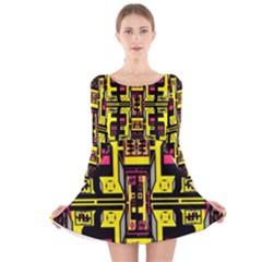 =p=p=yjyu Long Sleeve Velvet Skater Dress