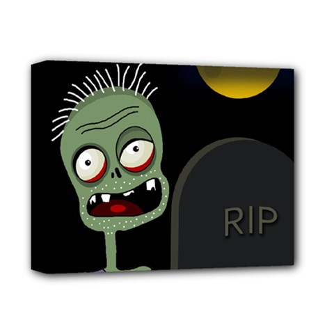 Halloween zombie on the cemetery Deluxe Canvas 14  x 11