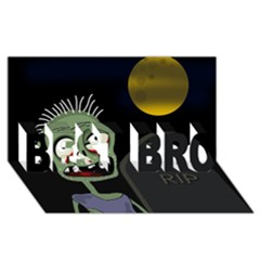 Halloween zombie on the cemetery BEST BRO 3D Greeting Card (8x4)